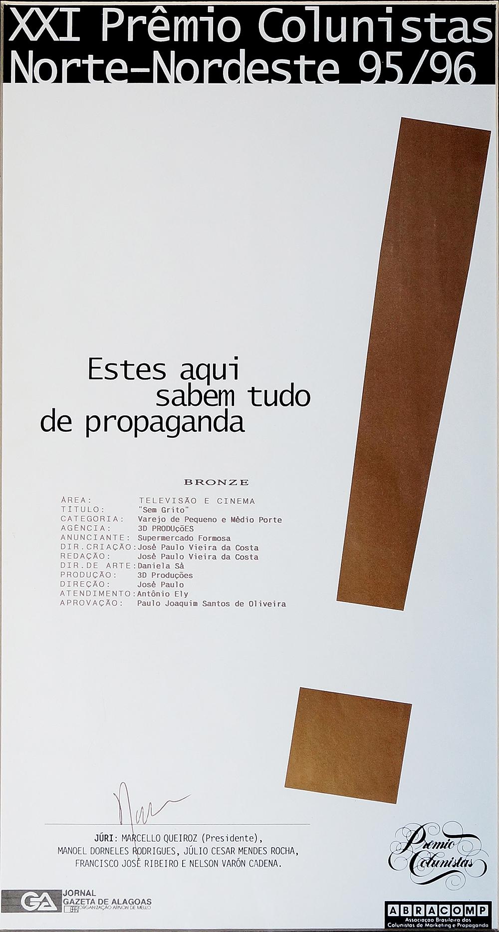 PREMIO - SEM GRITO