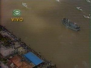 Na RBA, pela primeira vez ao vivo, o Círio fluvial (1989).